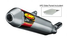 14-17 CRF250R Q4 HEX FMF SILENCER + LEFT SIDE PANEL 041522 EXHAUST
